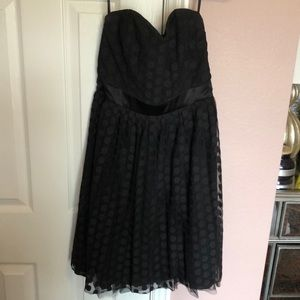 White House Black Market black polka dot dress